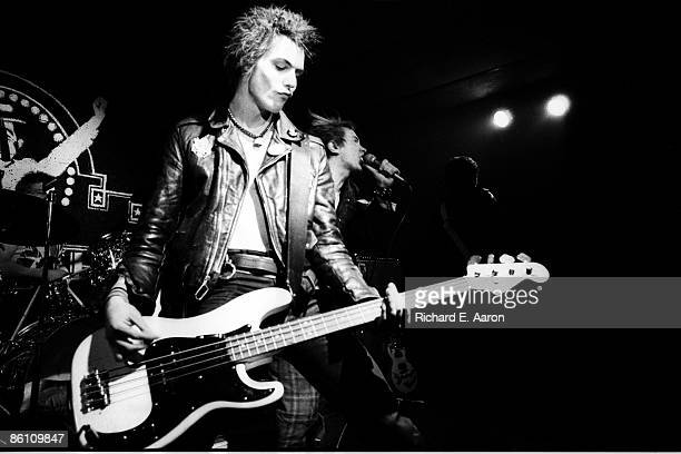 USA Photo of Sid VICIOUS and Johnny ROTTEN and SEX PISTOLS LR Sid Vicious Johnny Rotten performing live onstage at Baton Rouge's Kingfisher Club...