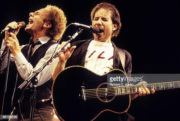 STADIUM Photo of SIMON GARFUNKEL and Art GARFUNKEL and Paul SIMON Art Garfunkel and Paul Simon performing on stage