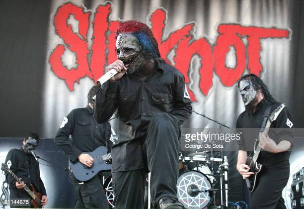 OZZFEST Photo of SLIPKNOT OZZFEST CONCERT July16 2004 @ PNC Bank Arts Center in Holmdel New Jersey SLIPKNOT Photo by George De Sota /Redferns