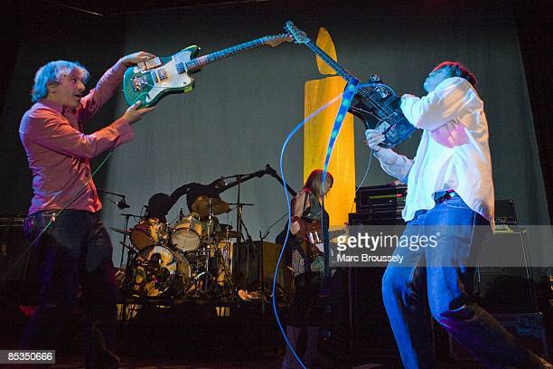 ROUNDHOUSE Photo of SONIC YOUTH Lee Ranaldo and Thurston Moore performing live onstage Playing 'Daydream Nation' as part of Don't Look Back clashing...