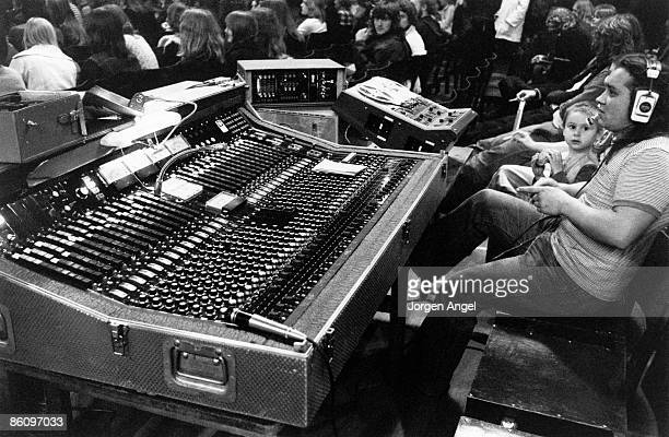 Photo of SOUND ENGINEER Pink Floyd the sound man 1971 KB Hallen Copenhagen Denmark