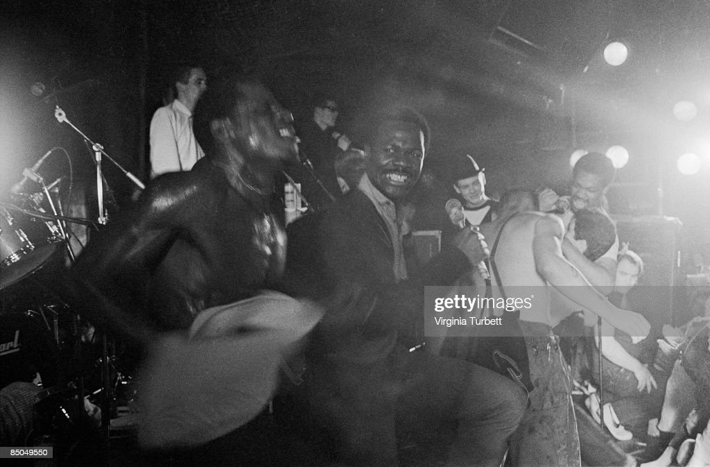 Photo of SPECIALS and SELECTER and MADNESS; The Specials, Selecter and Madness performing live onstage at end of show on 2-Tone (Two Tone) tour