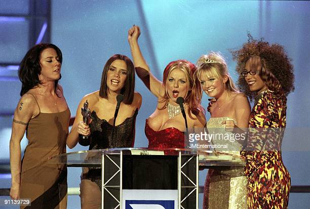 COURT Photo of SPICE GIRLS Group accepting award LR Melanie Chisholm Victoria Adams Geri Halliwell Emma Bunton and Melanie Brown