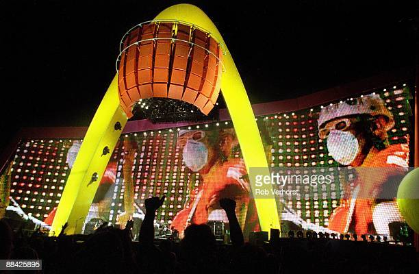 Photo of STAGE and U2 PopMart Tour stage set at the Sam Boyd Stadium Las Vegas on first date of tour