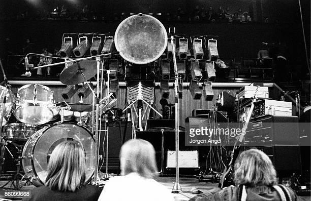 Photo of STAGE Pink Floyd before the concert 1971 KB Hallen Copenhagen Denmark