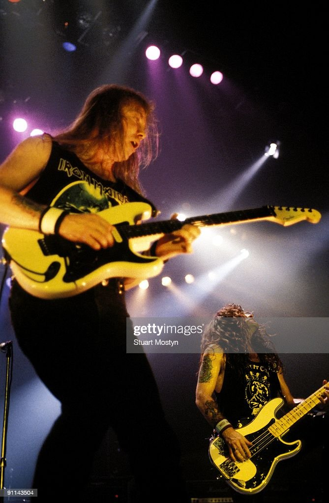 ARENA Photo of Steve HARRIS and Dave MURRAY and IRON MAIDEN Dave Murray and Steve Harris performing live onstage