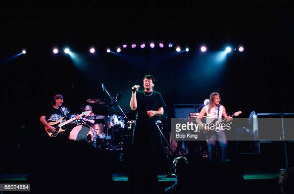 Photo of Steve MORSE and Ian GILLAN and Roger GLOVER and DEEP PURPLE LR Roger Glover Ian Gillan Steve Morse performing live onstage