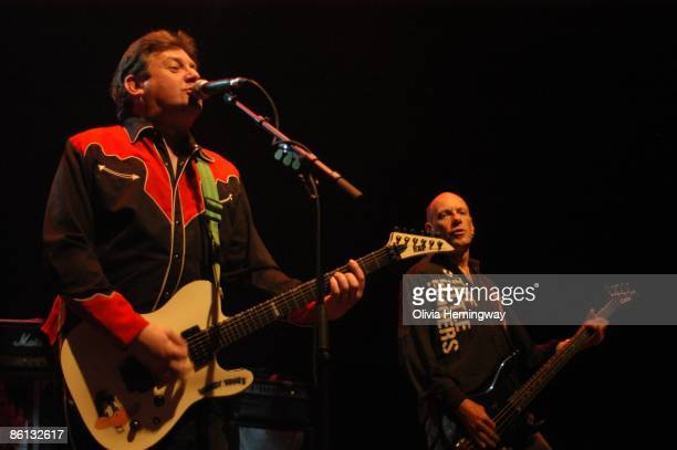 HALL Photo of STIFF LITTLE FINGERS and Jake BURNS and Ali McMORDIE Jake Burns and Ali McMordie performing on stage as part of the Meltdown Festival