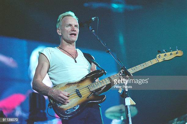 HALL Photo of STING and POLICE Sting performing live on stage