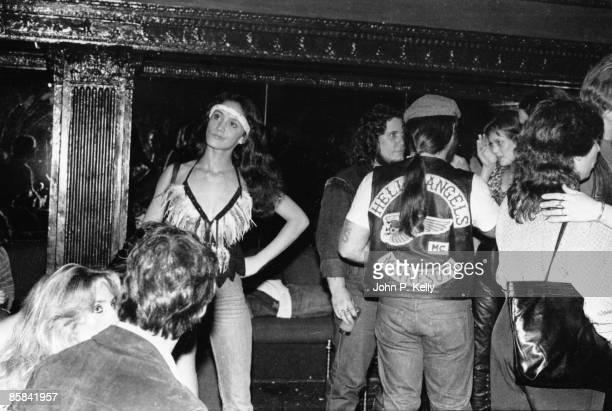 STUDIO 54 Photo of STUDIO 54 Hells Angels in club circa 1975