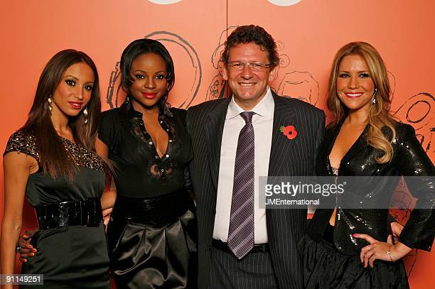 HOTEL Photo of SUGABABES and Amelle BERRABAH and Keisha BUCHANAN and Heidi RANGE and Lucian GRAINGE with Lucian Grainge LR Keisha Buchanan Amelle...