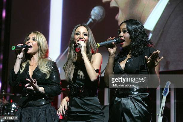 HOTEL Photo of SUGABABES and Heidi RANGE and Amelle BERRABAH and Keisha BUCHANAN Group performing on stage at the 2008 Music Industry Trusts Award...