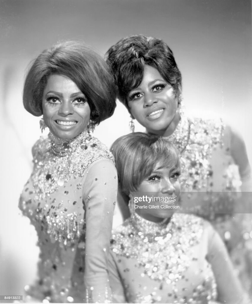 Photo of SUPREMES Posed group shot LR Diana Ross Mary Wilson Cindy Birdsong