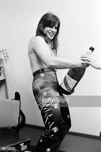 POPS Photo of SWEET Andy Scott The Sweet 1973 in the dressing room at BBC studios London just before performing at Top of The Pops the day Sweet got...
