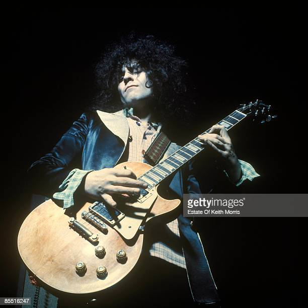 Photo of T REX and Marc BOLAN performing live onstage playing Gibson Les Paul guitar