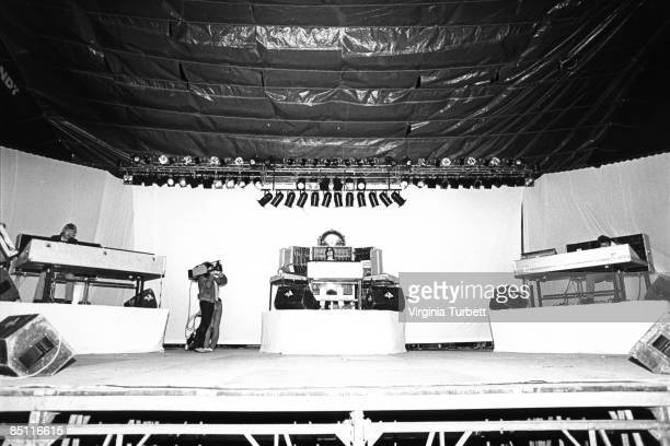 REICHSTAG Photo of TANGERINE DREAM performing on stage at an antinuclear rally