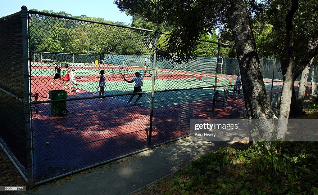 photo of tennis at rustic canyon recreation center on latimer road in santa monica weekend - Rustic Center