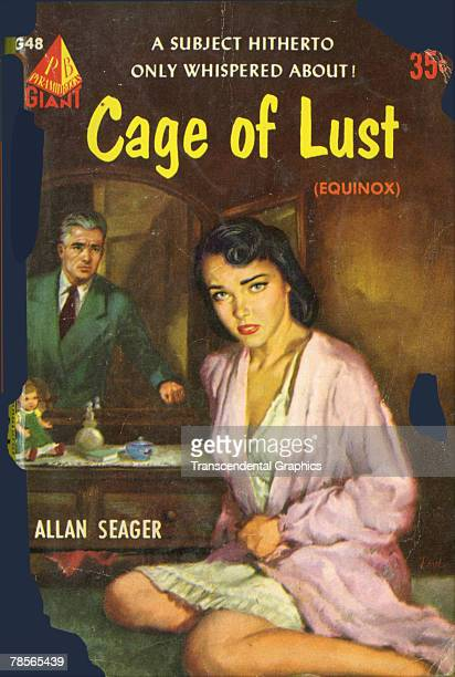 Photo of the cover of the paperback novel 'Cage of Lust' by Allan Seager published by Pyramid Books 1952 Also published under the title 'Equinox' the...