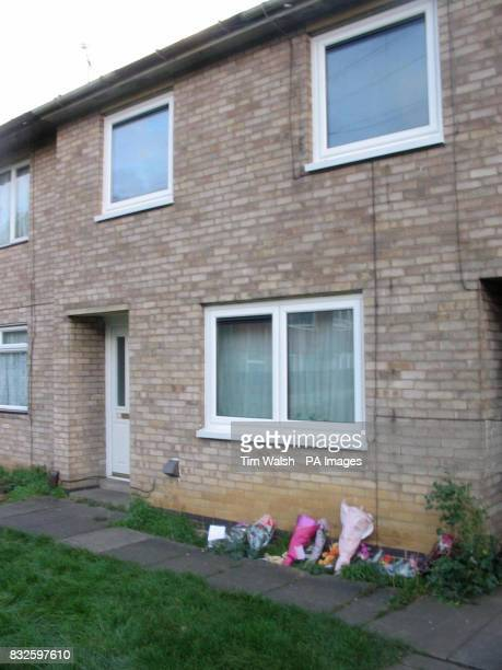 A photo of the house in Dupont Gardens Leicester where a mother and two children were found dead at weekend