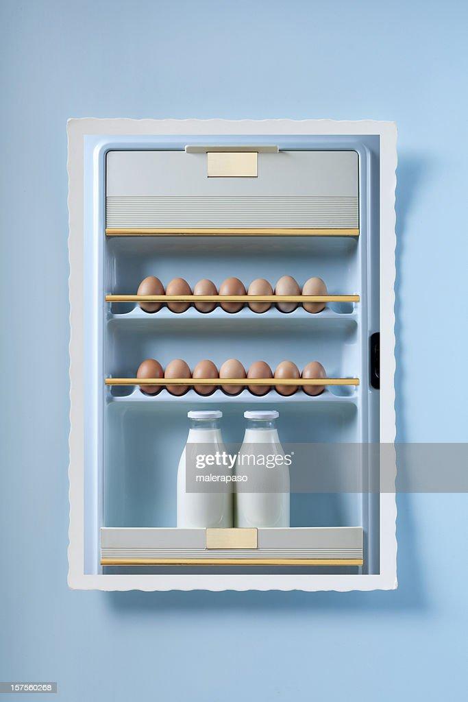Photo of the refrigerator door : Stock Photo