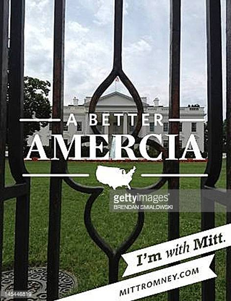 A photo of the White House taken with an iPhone and the application 'With Mitt' from the campaign of Republican Presidential hopeful Mitt Romney on...