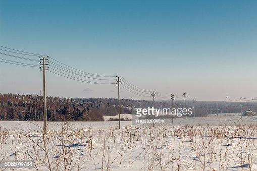 写真の冬のフィールドです。 : ストックフォト