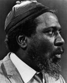 STUDIO Photo of Thelonious MONK Posed profile portrait of Thelonious Monk