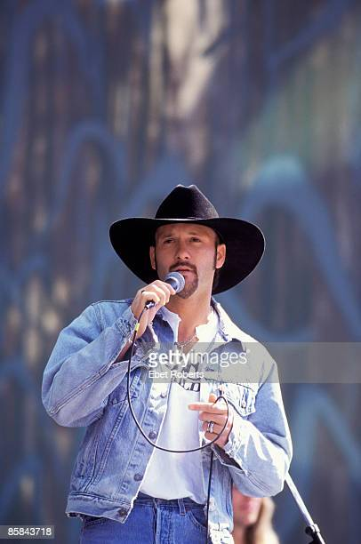 Photo of Tim McGRAW Tim McGraw performing at Farm Aid in Columbia South Carolina on October 12 1996