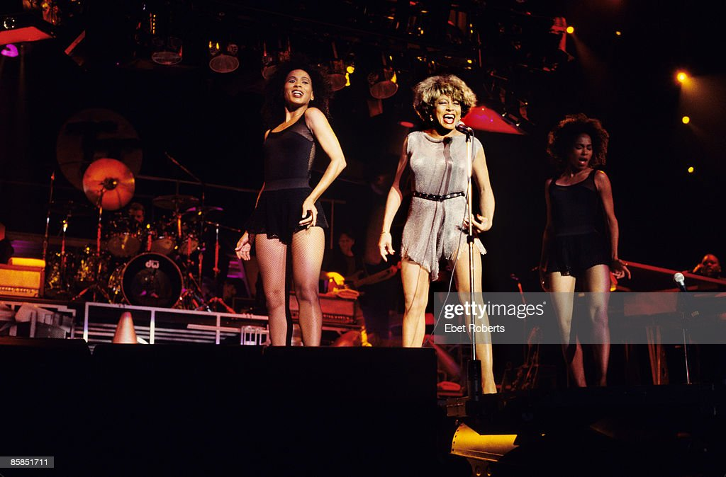 CENTER Photo of Tina TURNER, performing live onstage