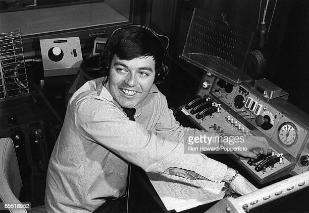 RADIO 1 Photo of Tony BLACKBURN Tony Blackburn in radio studio at the launch of BBC Radio 1