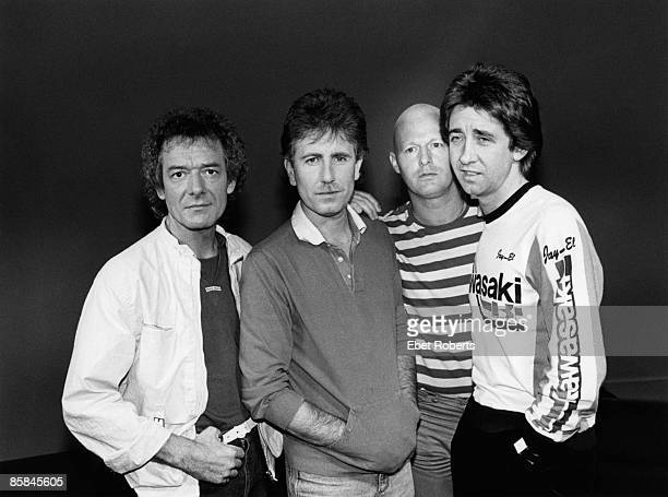 Photo of Tony HICKS and Allan CLARKE and Graham NASH and HOLLIES and Bobby ELLIOTT LR Allan Clarke Graham Nash Bobby Elliott Tony Hicks posed group...