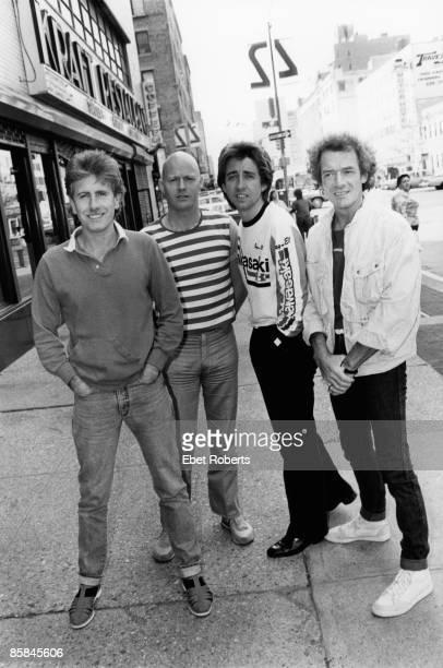 Photo of Tony HICKS and Allan CLARKE and Graham NASH and HOLLIES and Bobby ELLIOTT LR Graham Nash Bobby Elliott Tony Hicks Allan Clarke posed group...