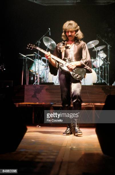 GARDEN Photo of Tony IOMMI and BLACK SABBATH Tony Iommi performing live onstage playing JayDee guitar