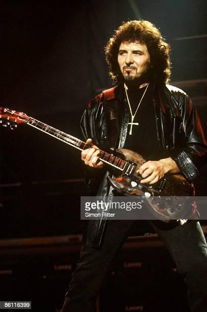 BIRMINGHAM Photo of Tony IOMMI and BLACK SABBATH Tony Iommi performing live onstage