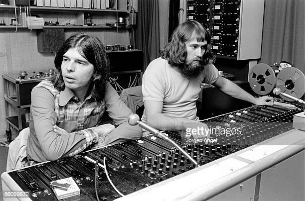 Photo of Tony VISCONTI TRex at Rosenberg Studios Copenhagen where TRex was recording March 1972 Producer Tony Visconti and Danish engineer Freddy...