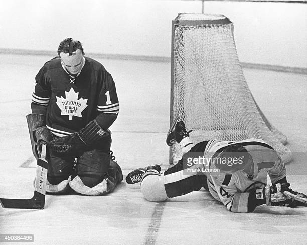 Photo of Toronto Maple Leaf goalie Johnny Bower taken by Frank Lennon April 7 1969