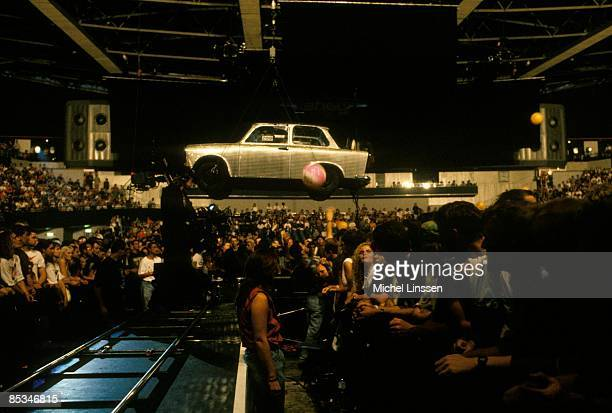 AHOY Photo of U2 Trabant car suspended over the audience at Zoo TV tour show