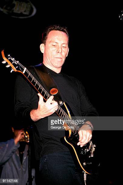 Photo of UB40 Robin Campbell playing Patrick Eggle guitar Photo by George De Sota /Redferns