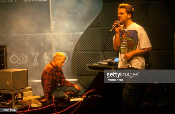 Photo of Vince CLARKE and Andy BELL and ERASURE LR Vince Clarke Andy Bell