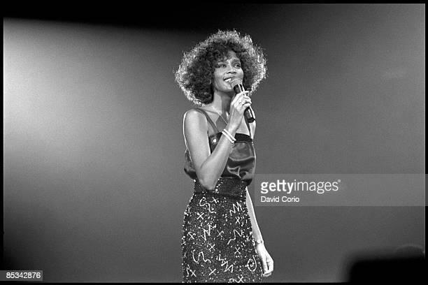 ARENA Photo of Whitney HOUSTON Whitney Houston performing on stage