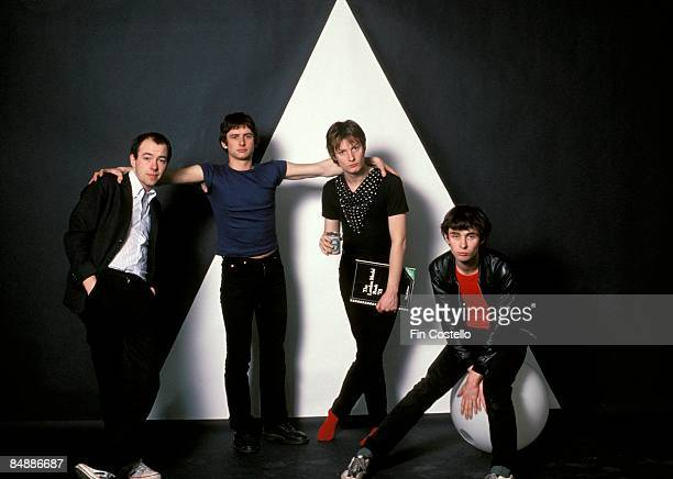 Photo of XTC Terry Chambers Colin Moulding Andy Partridge and Barry Andrews