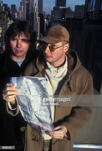 Photo of XTC XTC shot in NYC in 1998 Colin Moulding and Andy Partridge