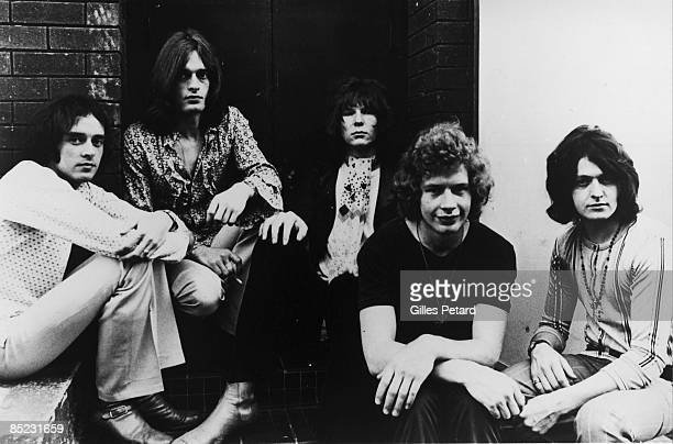 Photo of YES and Tony KAYE and Bill BRUFORD and Jon ANDERSON and Chris SQUIRE and Peter BANKS LR Peter Banks Tony Kaye Chris Squire Bill Bruford Jon...