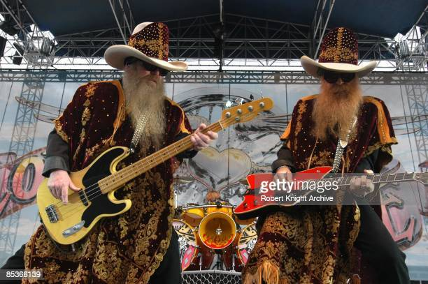 Photo of ZZ TOP and Dusty HILL and Billy GIBBONS Dusty Hill and Billy Gibbons performing live onstage at the Love Ride