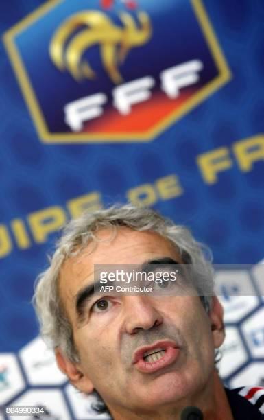 'EQUIPE DE FRANCE LE CHANGEMENT DANS LA CONTINUITE' Photo prise le 04 septembre 2007 à ClairefontaineenYvelines de l'entraîneur de l'équipe de France...