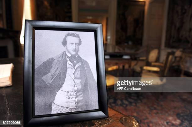 THOMAS Photo prise le 28 Novembre 2010 à Amboise d'une reproduction d'un ferotype non daté unique photo connue de l'écrivain français du dix neuvième...