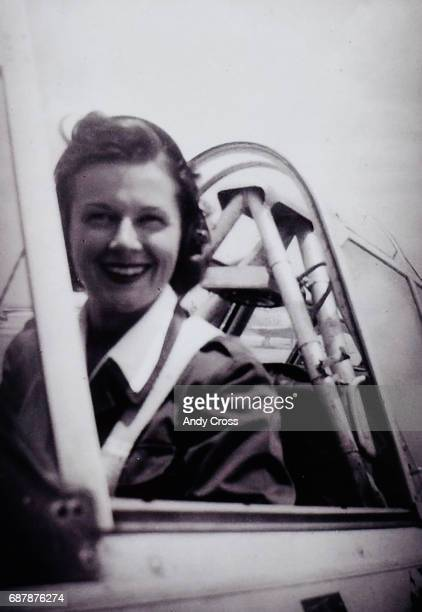 Photo provided by the Tedeschi family shows Jane Tedeschi in one of the aircraft she flew in the WWII era as a WASP Tedeschi flew military aircraft...