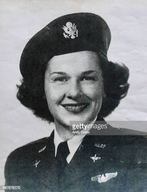 Photo provided by the Tedeschi family shows WASP Jane Tedeschi during the WWII era Tedeschi flew military aircraft during WWII with the Women...