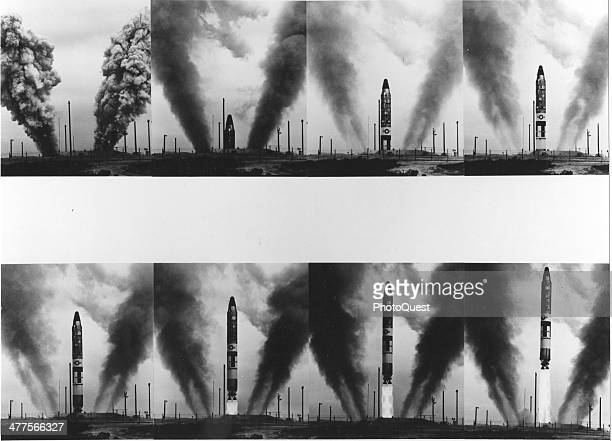 Photo series shows the launch sequence of a Titan II missile 1963
