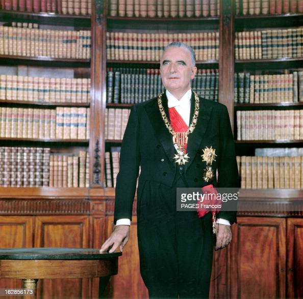 photo session for the official portrait of georges pompidou pictures getty images. Black Bedroom Furniture Sets. Home Design Ideas